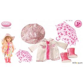 Vêtements de pluie pour poupée de 46 à 50cm