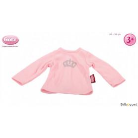 T-Shirt rose royal pour poupon de 30 à 33cm