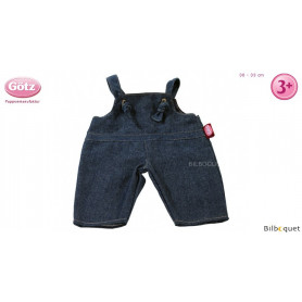 Salopette en jeans pour poupon de 30 à 33cm