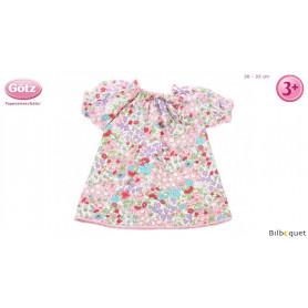 Chemise de nuit mille fleurs pour poupon de 30 à 33cm