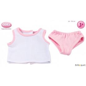 Sous-vêtements roses pour poupon/poupée de 30 à 50cm