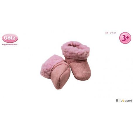 Paire de bottes roses pour poupon de 30 à 33cm
