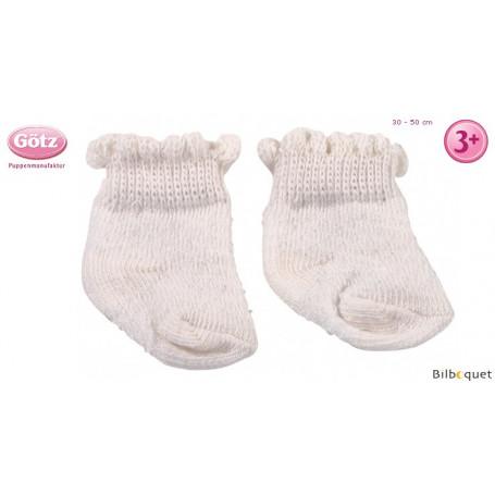 Paire de chaussettes blanches pour poupon/poupée de 30 à 50cm
