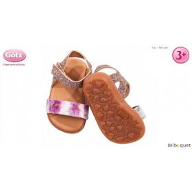 Paire de sandales à paillettes pour poupon/poupée de 42 à 50cm