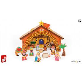 La crèche de Noël en bois