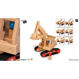 Pelleteuse excavatrice - Jouet en bois