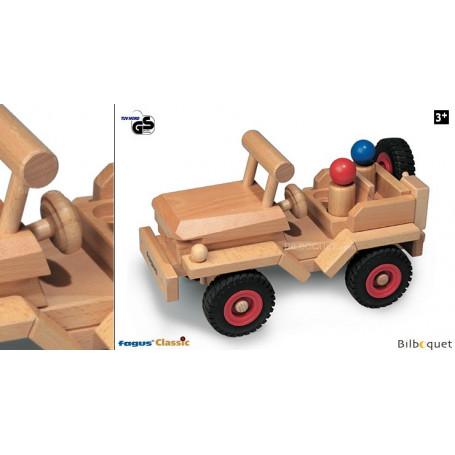 Jeep - Véhicule tout terrain - Jouet en bois