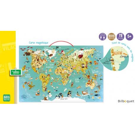 Carte du monde fantastique magnétique - Jeu éducatif