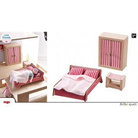 Chambre d'adultes - Meubles pour maison de poupée Little Friends