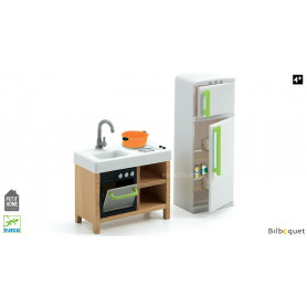 La cuisine compacte - Mobilier pour maison de poupées
