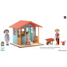 La maison de jardin avec accessoires (sans poupée)