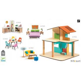 Maison de poupée meublée Modern House