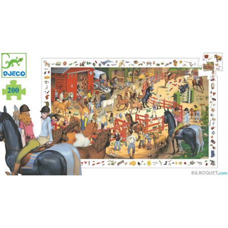 Puzzle observation équitation 200 pièces
