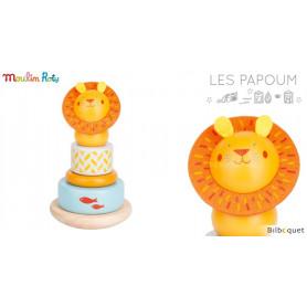 Lion empilable - Jouet en bois - Les Papoum