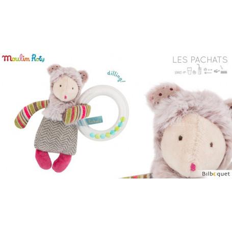Hochet Anneau billes Souris - Les Pachats