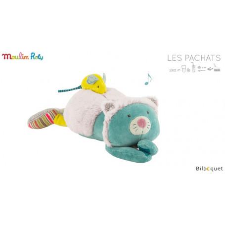 Doudou-poupée musical Chat - Les Pachats