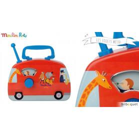 Bus musical cirque - Les jouets métal Moulin Roty