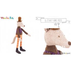 Mini poupée loup Le Gentleman - Il était une fois - Moulin Roty
