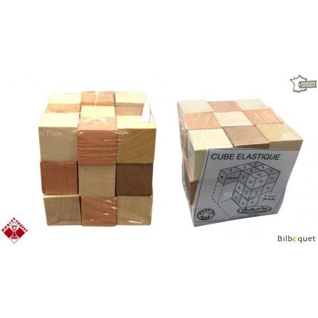 Elastic Cube Wooden Puzzle