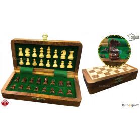 Jeu d'échecs magnétique pliant en bois 20x10cm