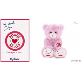 Petit Ours rose 19cm - Kaloo Rouge