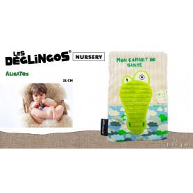 Protège carnet de santé Aligatos l'alligator - Déglingos Nursery