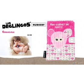Protège carnet de santé Coquelicos la souris - Déglingos Nursery