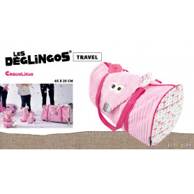 Sac de voyage Coquelicos la souris - Déglingos Travel Bags