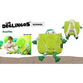 Sac à dos Aligatos l'alligator - Déglingos School