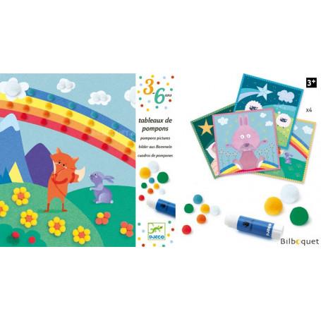 Tableaux de pompons - En douceur - Loisir créatif 3-6ans