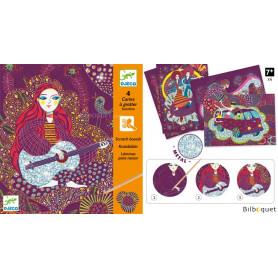 4 cartes à gratter Sunshine Design by Muriel Kerba