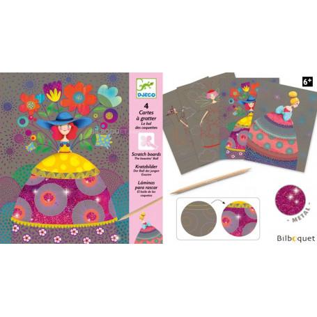 Cartes à gratter - Le bal de coquettes - Loisir créatif 6-10ans