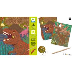 4 cartes à gratter Dinosaures Design by Bene Rohlman