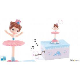 Boîte à musique manivelle - Ballerine en scène