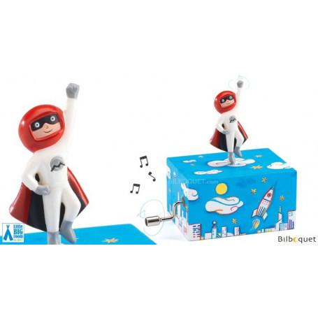 Boîte à musique manivelle - Super Cosmos en ville