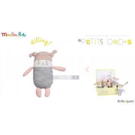 Mini Hochet chat Moon - Les Petits Dodos - Moulin Roty