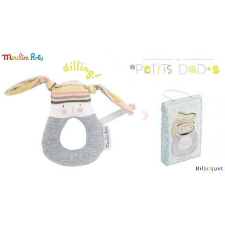 Anneau-hochet Lapin - Les Petits Dodos - Moulin Roty
