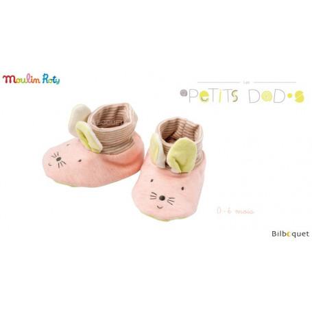 Chaussons Souris pour bébé 0-6 mois - Les Petits Dodos - Moulin Roty