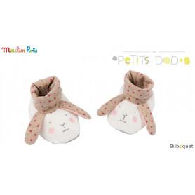 Chaussons Lapins pour bébé 0-6 mois - Les Petits Dodos - Moulin Roty