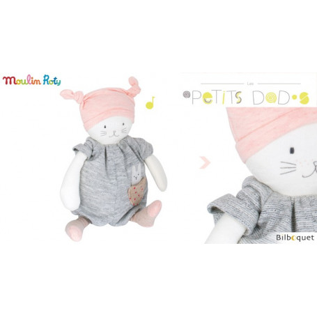 Doudou musical chat Moon - Les Petits Dodos - Moulin Roty