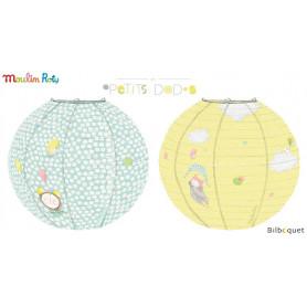 2 lanternes en papier - Les Petits Dodos - Moulin Roty