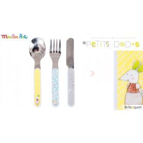Set de 3 couverts pour bébé - Les Petits Dodos - Moulin Roty
