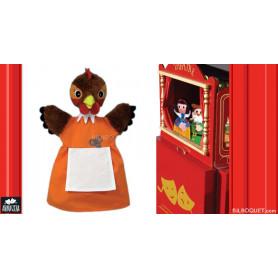 Marionnette Poule rousse