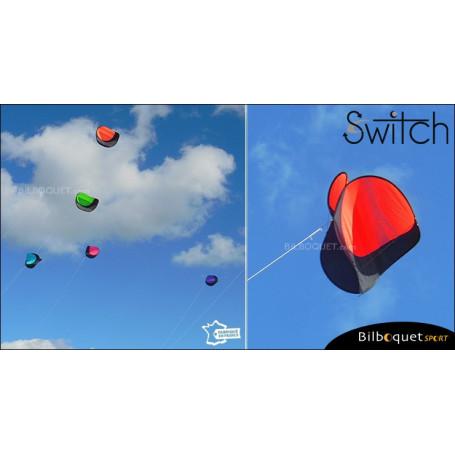 Switch - Cerf-volant monofil pilotable - ROUGE