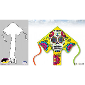 Cerf-volant monofil Grand Easy Flyer Sugar Skull 117x229cm