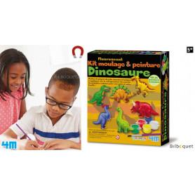 Kit moulage et peinture fluorescent - Dinosaure