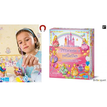Kit moulage et peinture à paillettes - Princesse