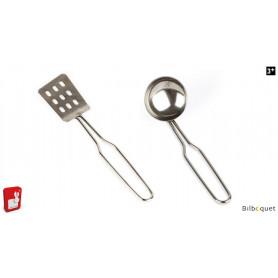 Louche et spatule en métal - Jouet d'imitation