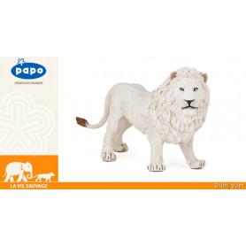 Lion blanc - Figurine en plastique