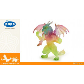 Dragon arc-en-ciel debout - Figurine fantastique